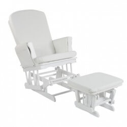 Quax Rocking chair blanc coussin simili cuir blanc quax