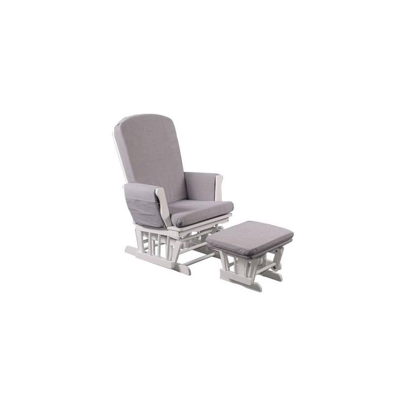 quax rocking chair blanc coussins quax. Black Bedroom Furniture Sets. Home Design Ideas
