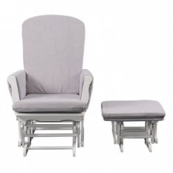 Chaise, Pouf, Tabouret Rocking chair - blanc - coussins quax