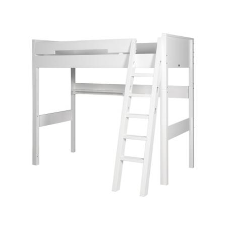 Lit mezzanine Set de montage lit mezzanine xl combiflex blanc avec échelle inclinée bopita