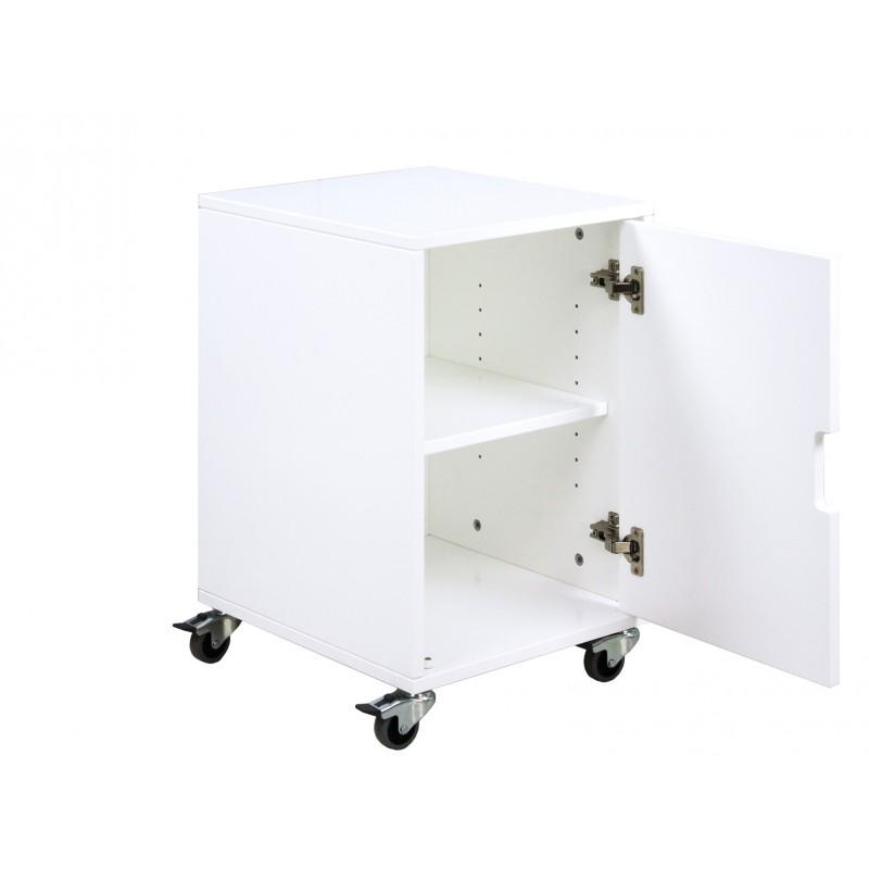 Bopita armoire 1 porte roulettes pour bureau blanc bopita for Armoire bureau blanc
